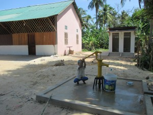 Kids using new well