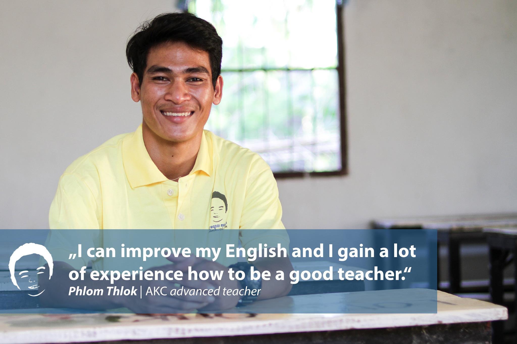 volunteer of angkor kids center