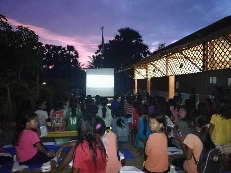 Movies Night of Angkor Kids Center